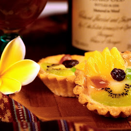 by Ray Alexander - Food & Drink Plated Food ( fruit, color, pineapple, delicious, woodplate )