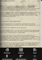 Screenshot of Ghana Constitution