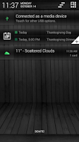 Screenshot of Black Wood Green CM11 Theme