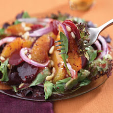 Berry, Beet & Orange Salad On Baby Greens