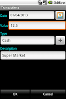 Screenshot of Wallet (personal cash flow)