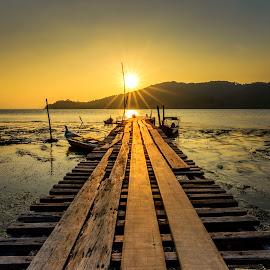 Hammers Bay III by DrPyan Mohd Nor - Buildings & Architecture Bridges & Suspended Structures ( zainy, kelu, bengong, zinie, karlidz, golden hour, sunset, sunrise )