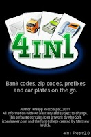 Screenshot of 4in1 Free - Prefix, Zip, Bank