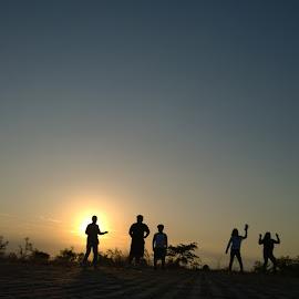 Silhouette Dancers by Renato Cayamdas - Sports & Fitness Fitness ( joggers, silhouette dancers, morning sun, dancers, silhouette, early sun, sunrise, morning, sun, early morning, rising sun )