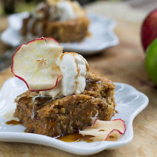 Butterscotch Apple Bars with Caramel Sauce