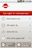 Screenshot of Din pensjon