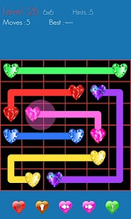 Draw Line Hearts - screenshot