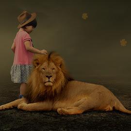 lion by Nuki Irawan Adi Saputro - Digital Art Animals