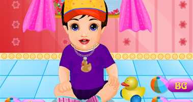 Screenshot of Cute baby dressup