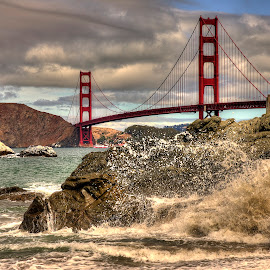 Golden gate by Margery Cortes - Buildings & Architecture Bridges & Suspended Structures ( california, beach, golden gate, baker beach, san francisco )