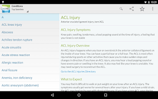 Screenshot of WebMD for Android