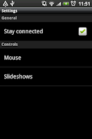 Screenshot of Impress Remote