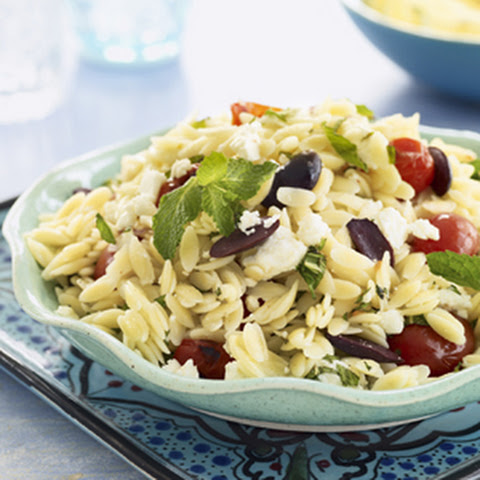Orzo Salad with Grape Tomatoes, Feta, and Mint