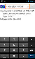 Screenshot of Credit Card Lite