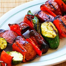 World's Easiest Grilled Zucchini and Sausage Kabobs
