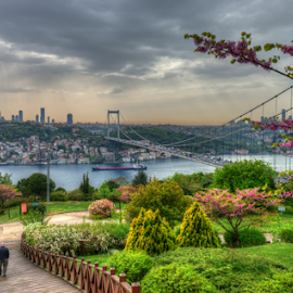 If one had but a single glance to give the world, one should gaze on Istanbul. by Salah El-Deen - City,  Street & Park  City Parks ( instasems, dynamic, range, hdr, park, d800, high, istanbul, turkey, nikon, sems )