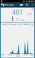 Screenshot of WalkLogger pedometer