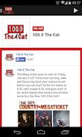 Screenshot of 100.9 The Cat