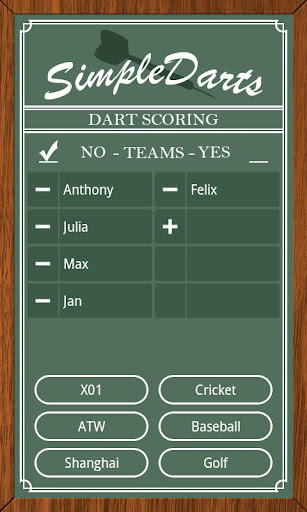 Simple Darts - Dart Scoring