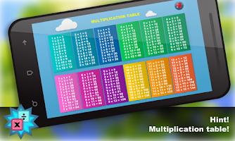 Screenshot of Math. Мultiplication table