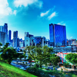 View from Fort Canning Hill. by Shahrul A Hamid - Buildings & Architecture Public & Historical