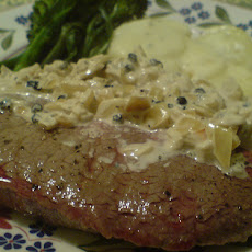 Onion Cream Steak Topper