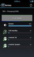Screenshot of Battery Widget Free