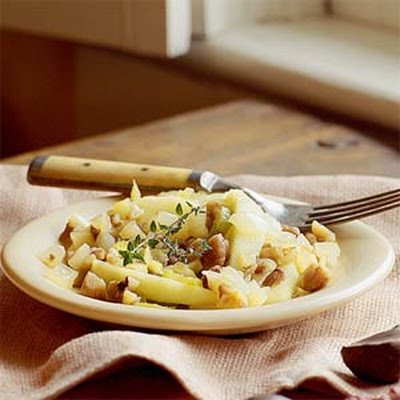 Sweet Apple-and-Chestnut Sauté