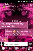 Screenshot of GO SMS Theme Pink Flower