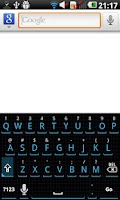 Screenshot of Squared Cyan HD Keyboard Theme