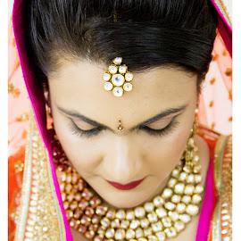 Candid Bride by Shrey Chohan - Wedding Bride ( love, candidphotography, candid, bride and groom, marriage, bride )
