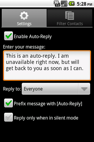 SMS Auto-Reply