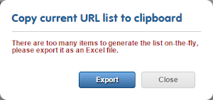 Back-breaking page lists will no longer break backs: they can be exported in an XLIFF file to download at your leisure.