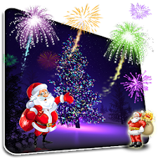 Christmas Fireworks Wallpaper
