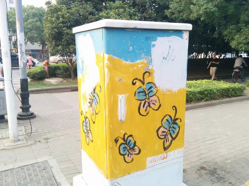 街头涂鸦之花蝴蝶…