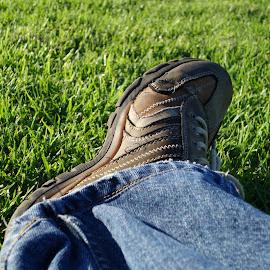 by Venkatesh Mookkan - People Body Parts ( leg, close up, shoe, closeup )
