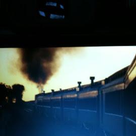 Train Ride by Anna Tripodi - Transportation Trains