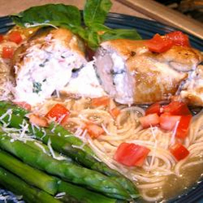 Cream Cheese and Prosciutto Stuffed Chicken