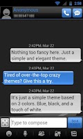 Screenshot of GO SMS THEME - Smooth DeepBlue