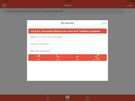 Screenshot of ASDRA Buscador de entidades