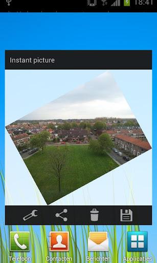 Instant Picture Camera Widget