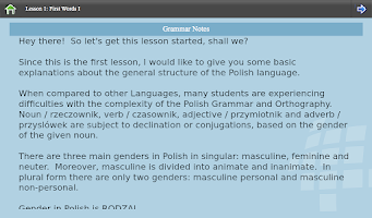 Screenshot of L-Lingo Learn Polish
