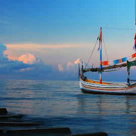 REHAT SEJENAK by Nur Sugianto - Transportation Boats ( kecamatan pasean-pamekasan madura, , color, colors, landscape, portrait, object, filter forge )