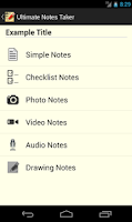 Screenshot of Ultimate Notes Taker