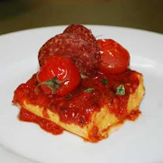Quick and Easy Polenta with Tomato Sauce