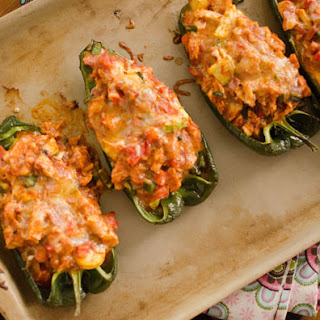 Enchilada Stuffed Poblanos