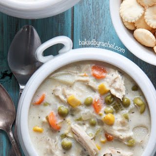 Slow Cooker Chicken Pie Soup