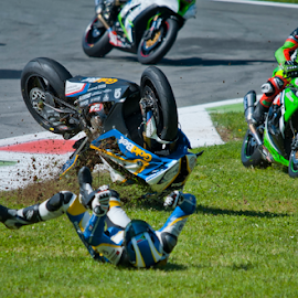 Motorsport could be dangerous - 2 by Luca Renoldi - Sports & Fitness Motorsports ( monza, motorsport, highside, dangerous, superstock )