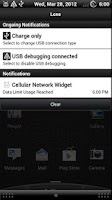 Screenshot of Cellular Network Widget Pro
