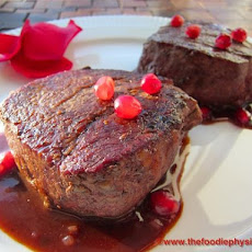 Filet Mignon with Pomegranate Dijon Sauce